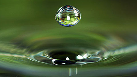 Wholeness: Water drop suspended