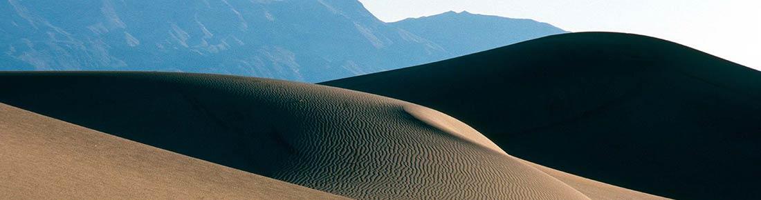 Barren sand dunes