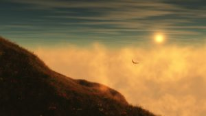 sunrise-hill-bird-sky-cloud-mountain